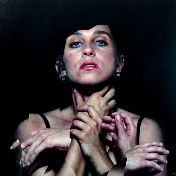 Eloy Morales realism hands portrait painting