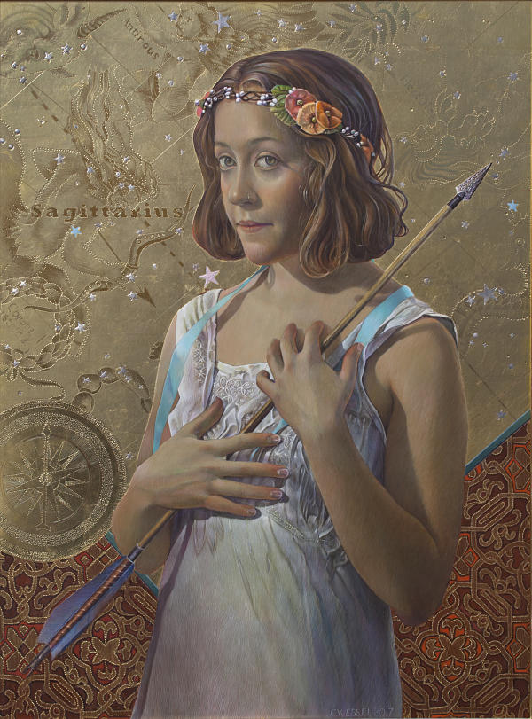 Fred Wessel The Constellation Sagittarius surreal painting PoetsArtists