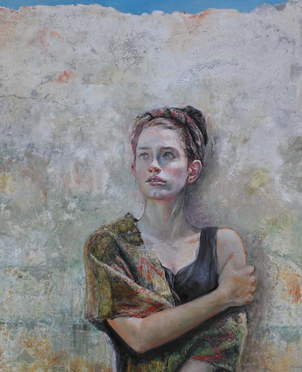 Judith Peck textured figurative portrait painting