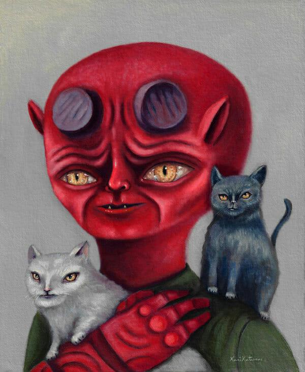 Hellboy portrait Karikatura