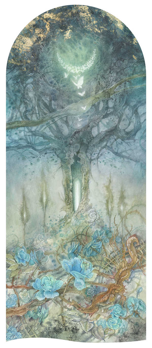 Stephanie Law surreal butterflies painting