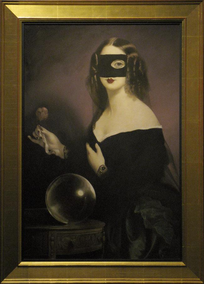 Stephen Mackey blindfold black dress Arcadia Contemporary