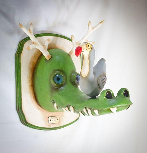 "Valency Genis: ""Mental Menagerie"" animal hybrid creature sculptures"