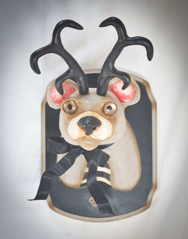 "Valency Genis ""Mental Menagerie"" surreal bear animal hybrid sculpture"