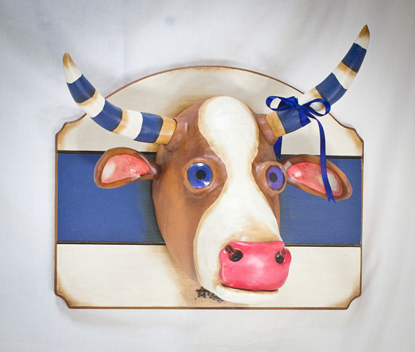 Valency Genis surreal cow animal hybrid sculpture