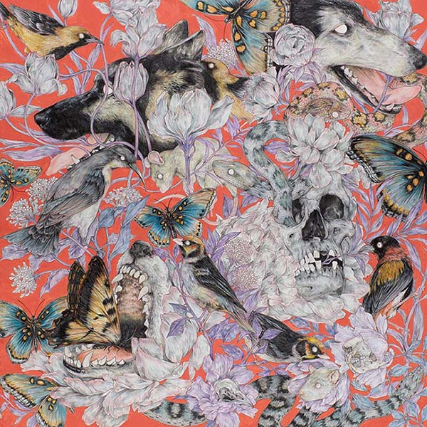 Fumi Nakarmura surreal animal nature painting