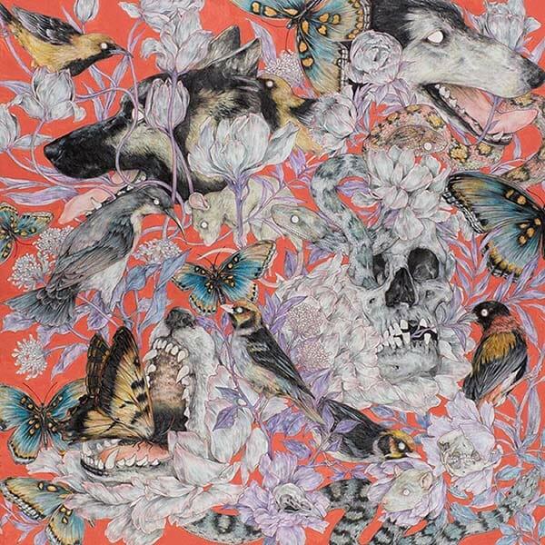 Fumi Nakarmura surreal animal nature painting