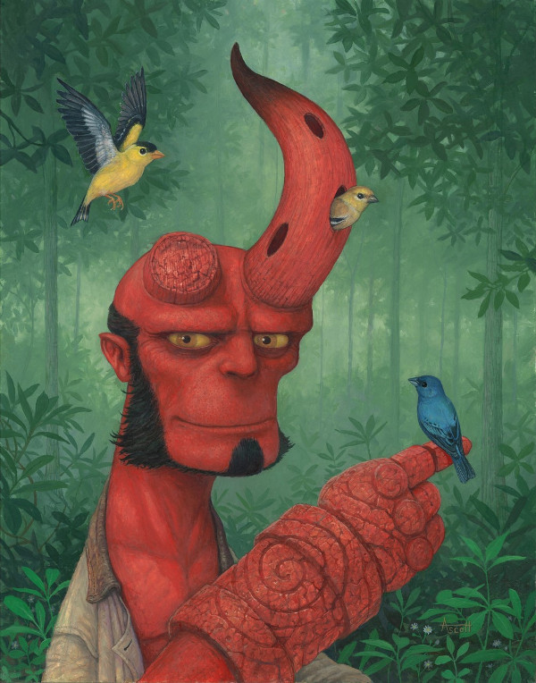 Hellboy portrait Thomas Ascott