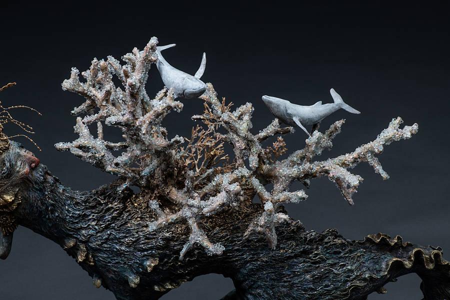 Akishi Ueda  surreal creature sculptures