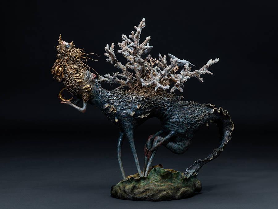 Akishi Ueda Japanese Sculptor Beautiful Bizarre art prize winner
