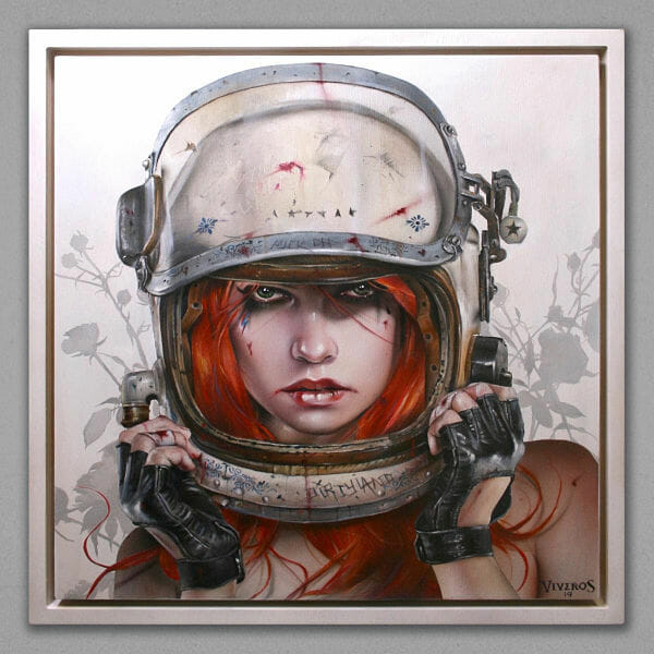Brian Viveros 'SPACE ODDITY' portrait painting