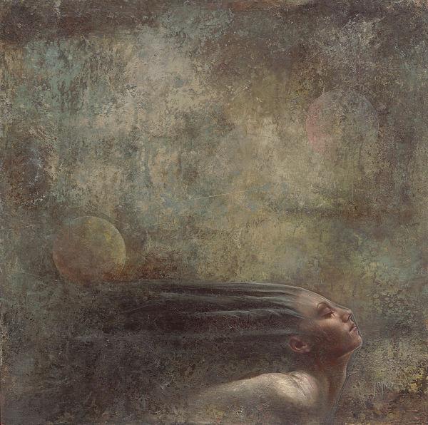 JuliAnne Jonker surreal dark grungy portrait painting