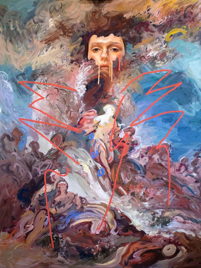 Loribelle Spirovski - Donna Cattiva surreal painting
