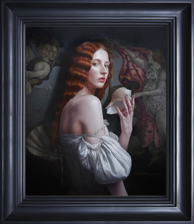 Mary Jane Ansell red hair woman painting