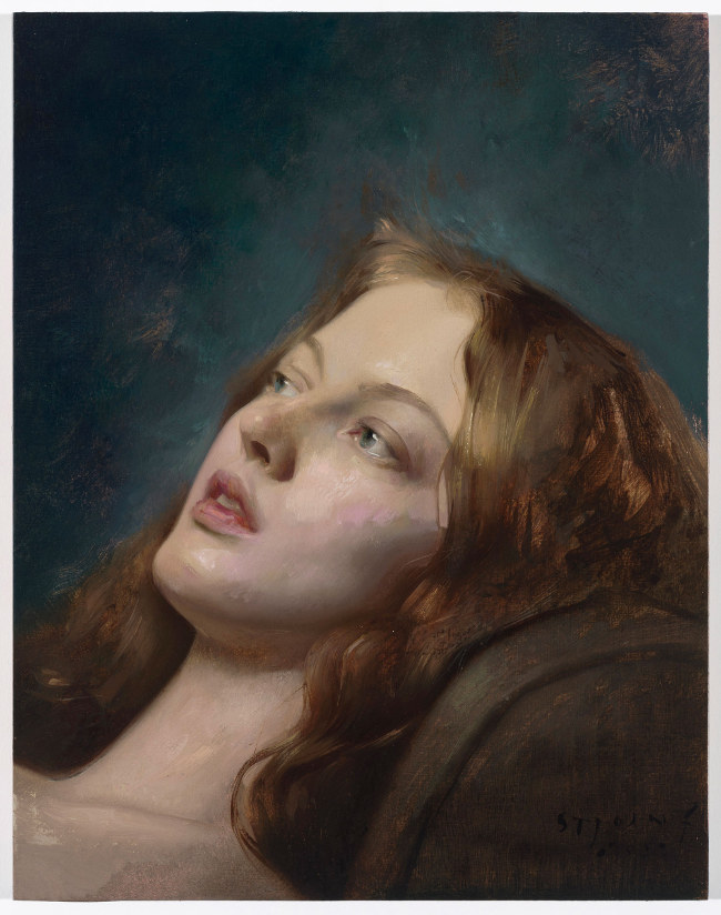 Will St. John - Laura Reclining painting