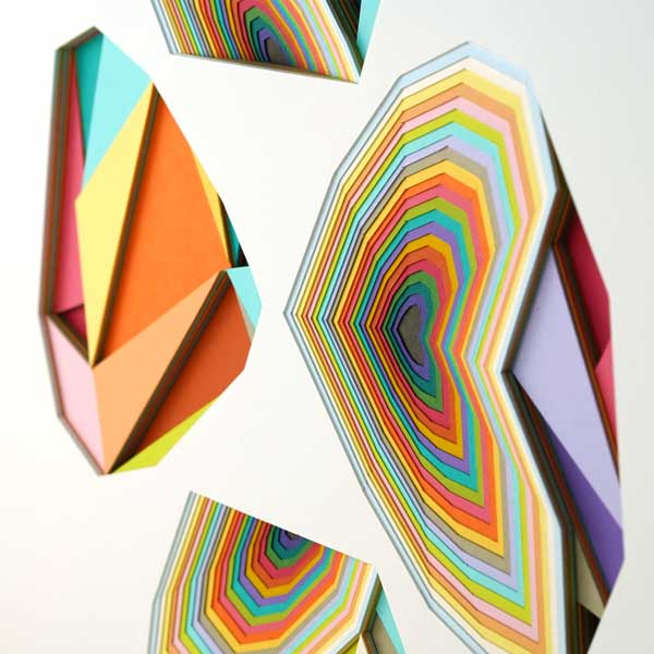 Huntz Liu geometric vibrant shapes art at Thinkspace