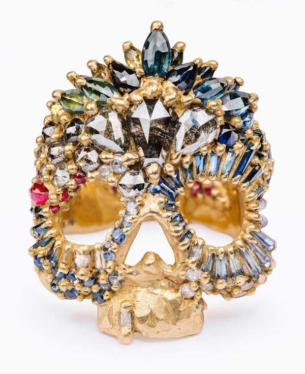 Polly Wales skull ring