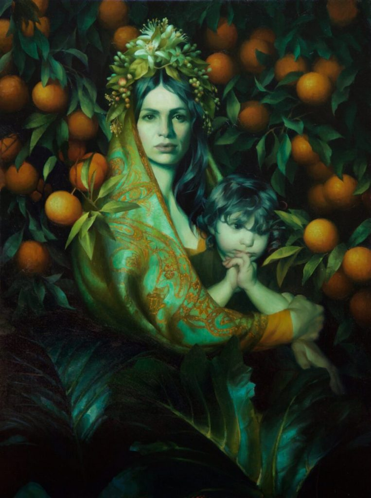 Adrienne Stein goddess and child painting