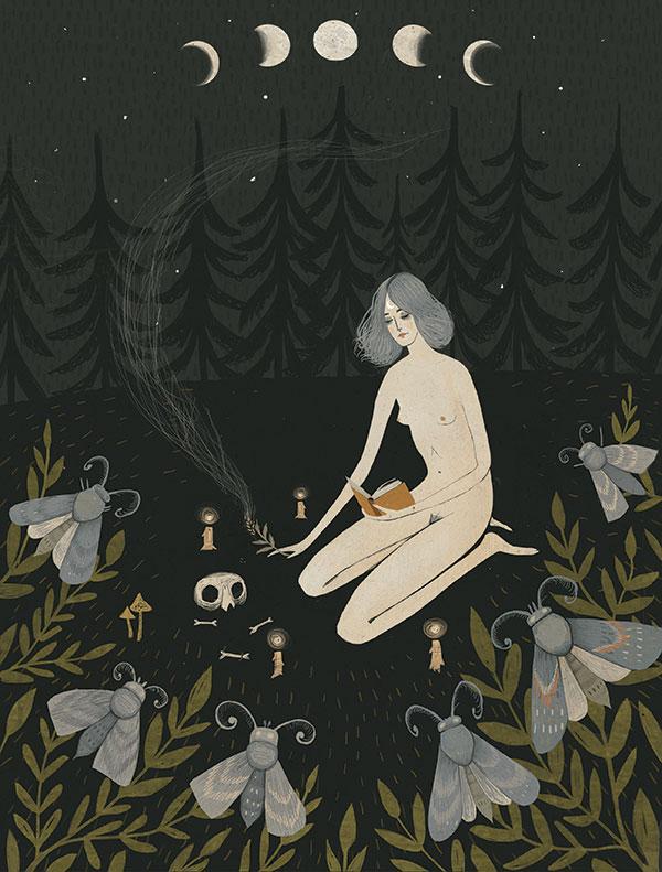 Alexandra Dvornikova_woman underneath the moon cycles