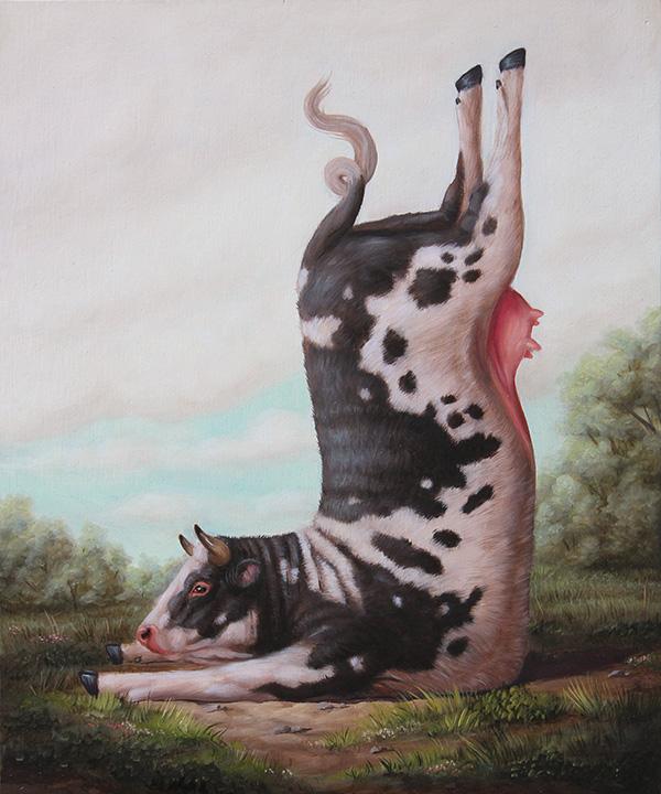 Bruno Pontiroli_Cow doing yoga
