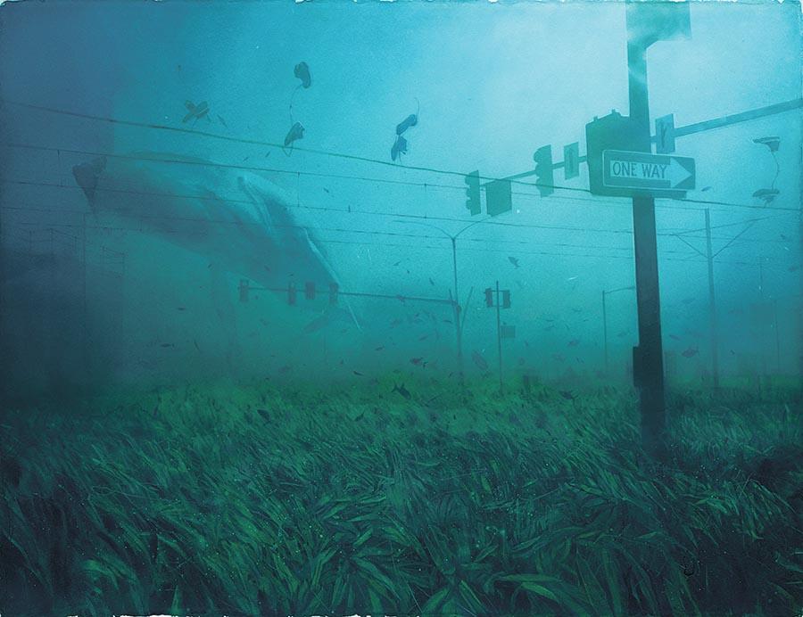 Dima Rebus - watercolor underwater surreal painting