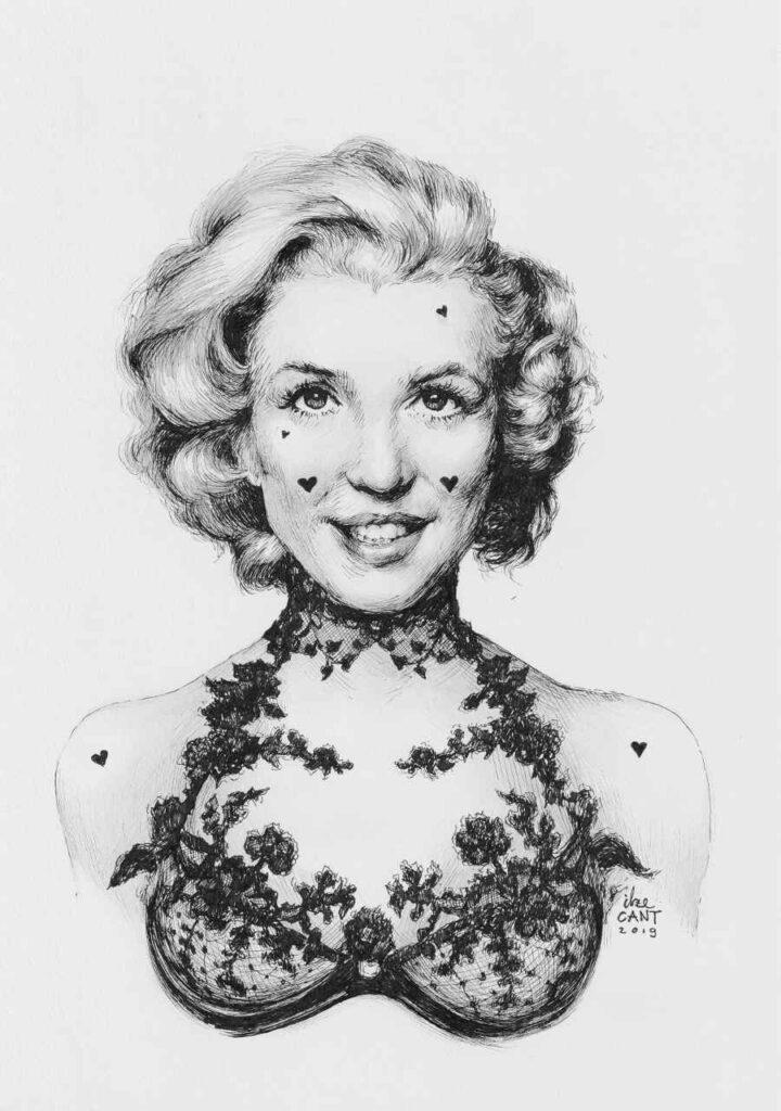 Marylin Monroe ink portrait