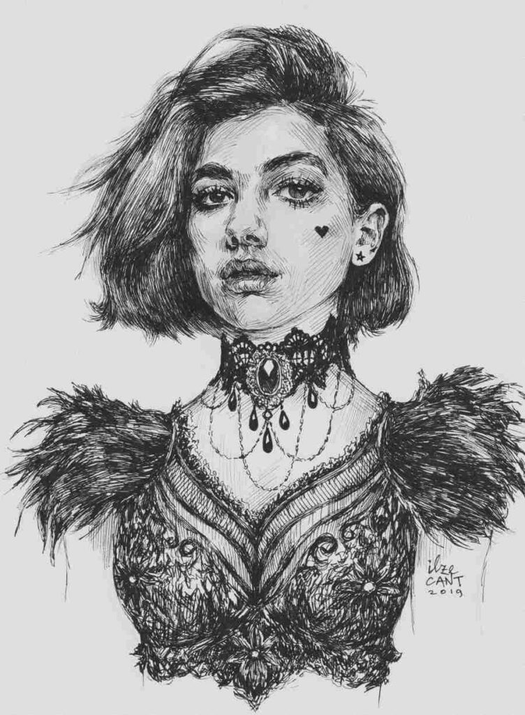 Diva Lupa ink portrait