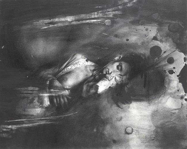Jeremy Mann surreal realism drawing