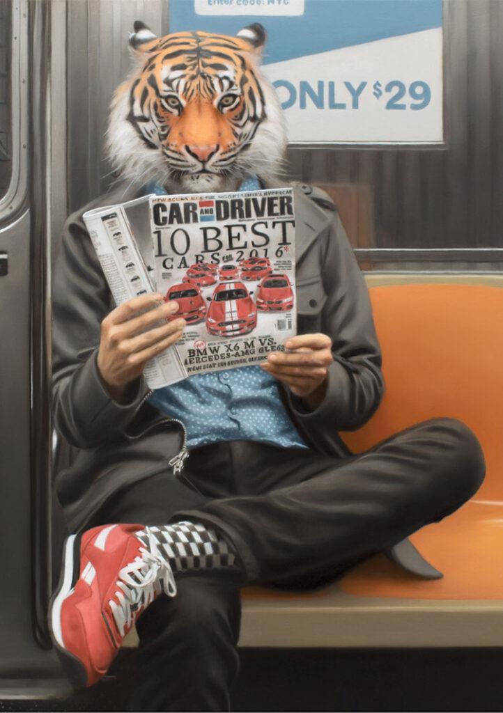 Matthew Grabelsky_lion on subway