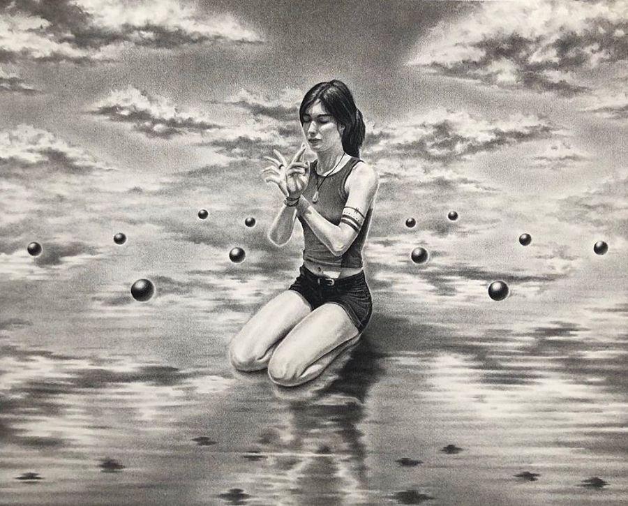 Stuart Holland surreal symbolic drawing