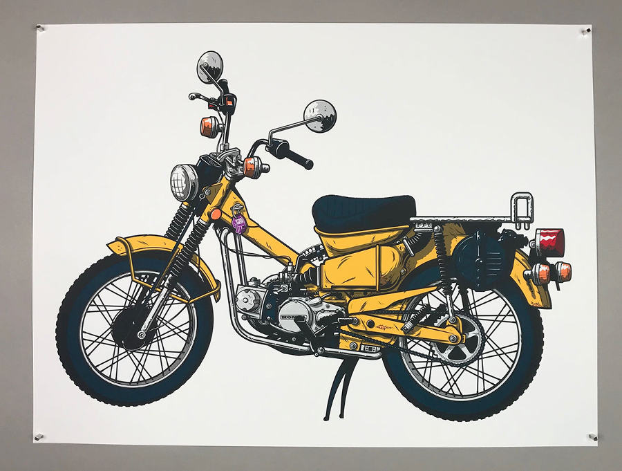 Talon Gallery rockers motorcycle screenprint