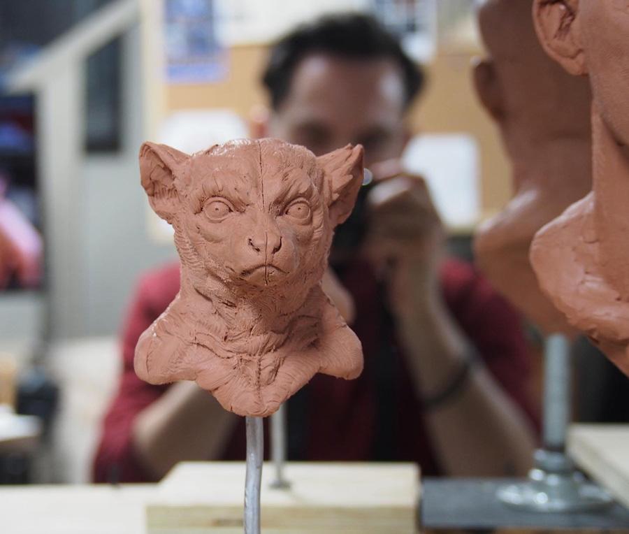Adam Matano WIP sculpture