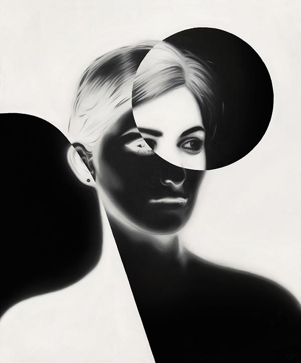 sandra ovenden_retro woman with circles