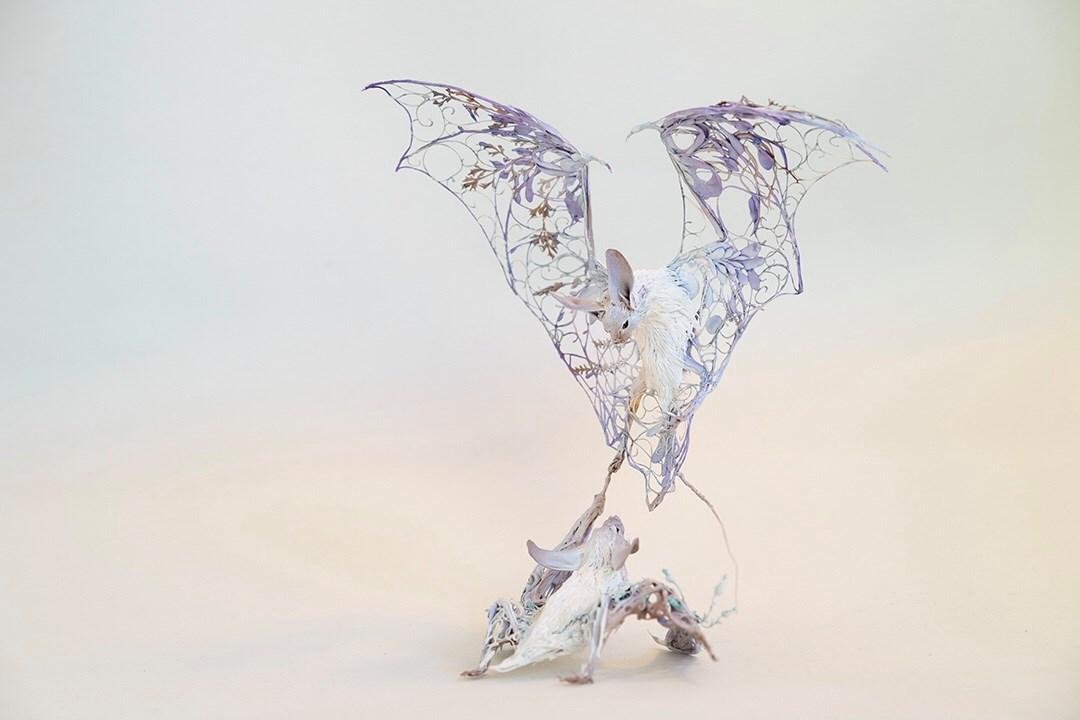 Ellen Jewett surreal bat sculpture
