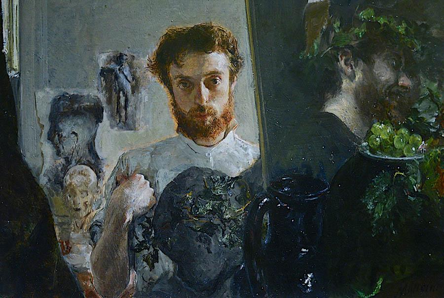 Antonio Mancini-self-portrait