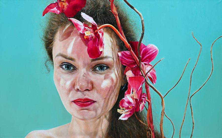 Arina Gordienko Orchid (Portrait of Viktoria) 'The Creator and The Muse'