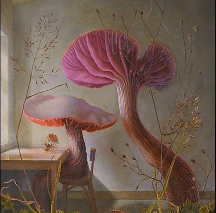 Bella Ormseth nature paintings at Roq la Rue