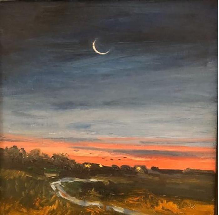Carol King Hood painting at SOMA NewArt Gallery