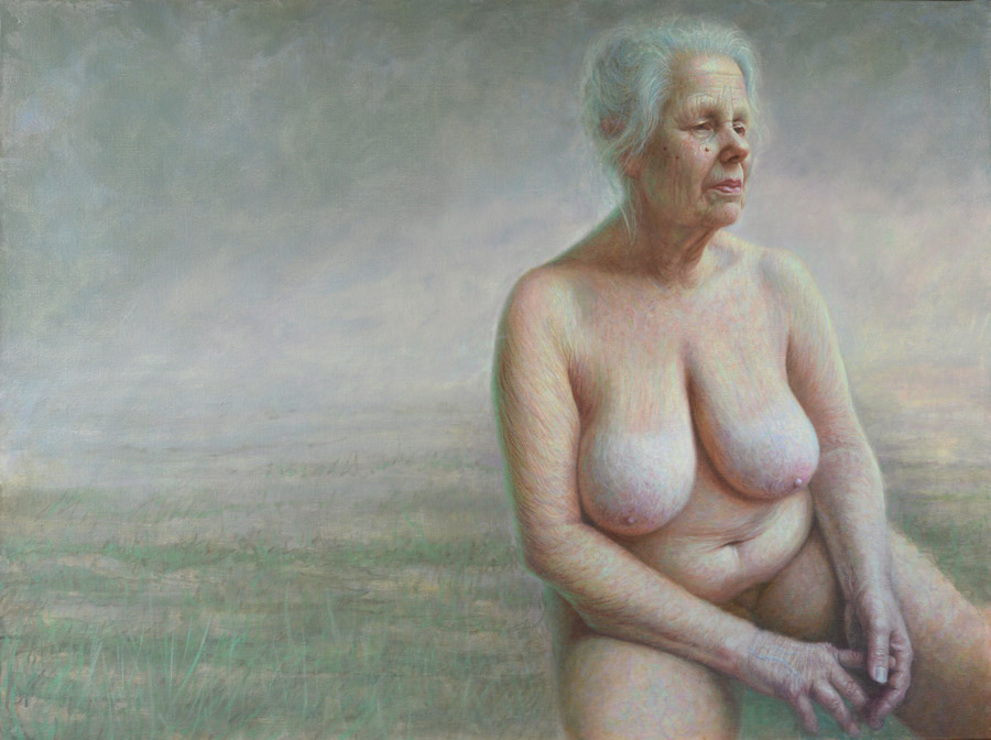 """Francien Krieg - """"Perfect Imperfections"""" nude painting"""