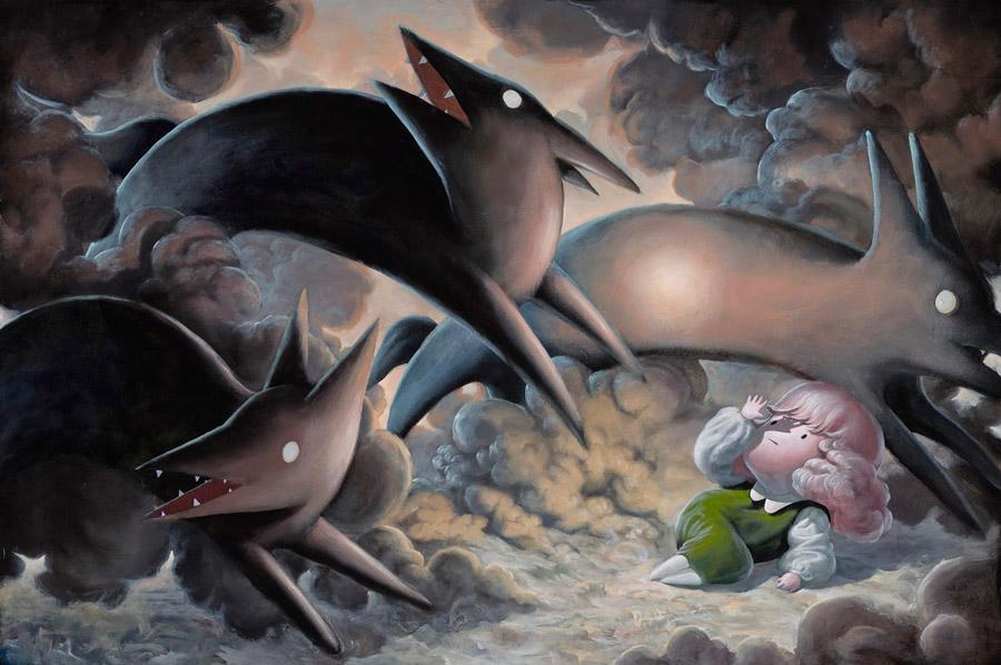 Giorgiko - Stampede surreal illustrative painting
