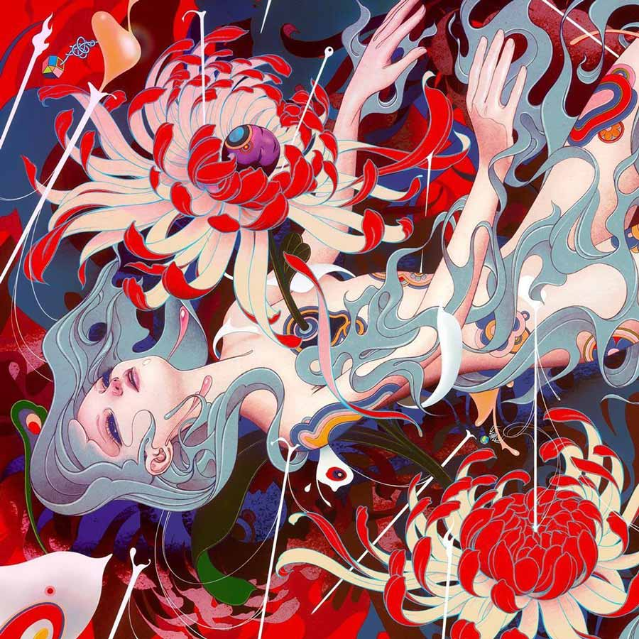 James Jean pop surrealism painting