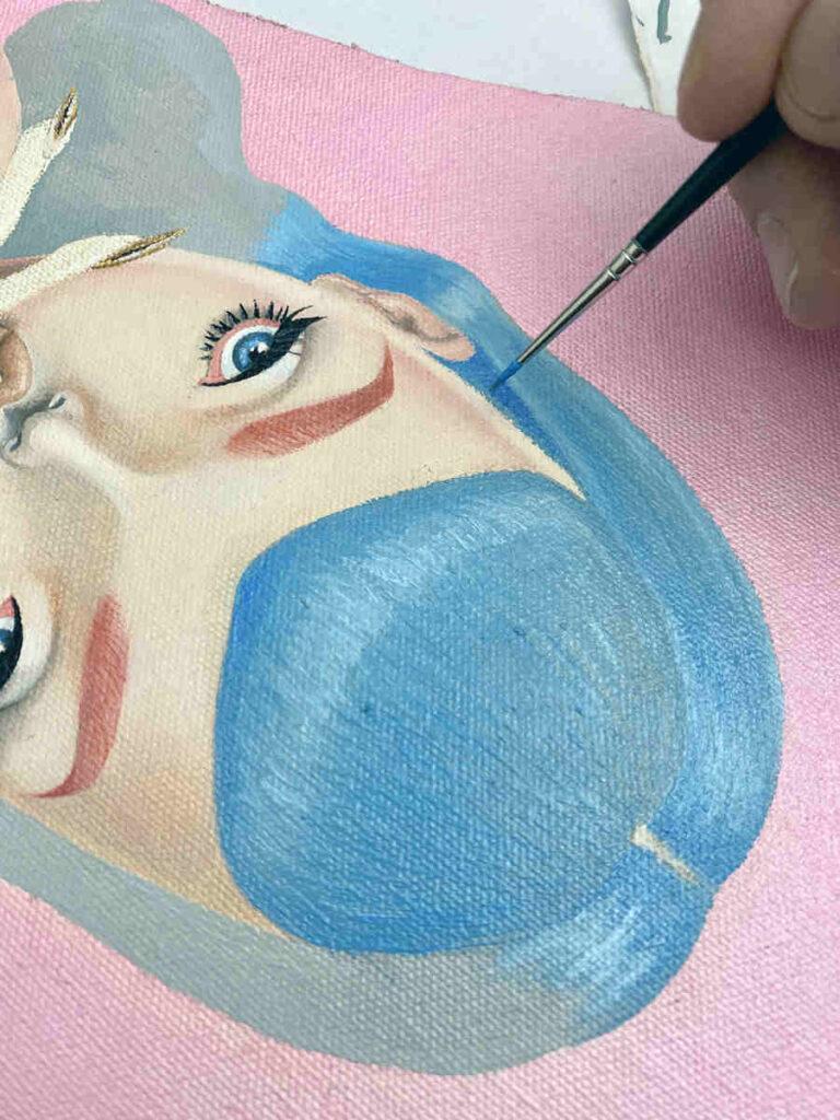 Janka Creator WIP painting