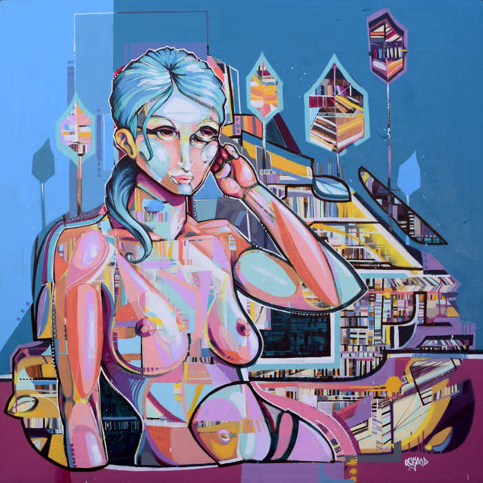 John Osgood Aerosol on canvas at Voss Gallery