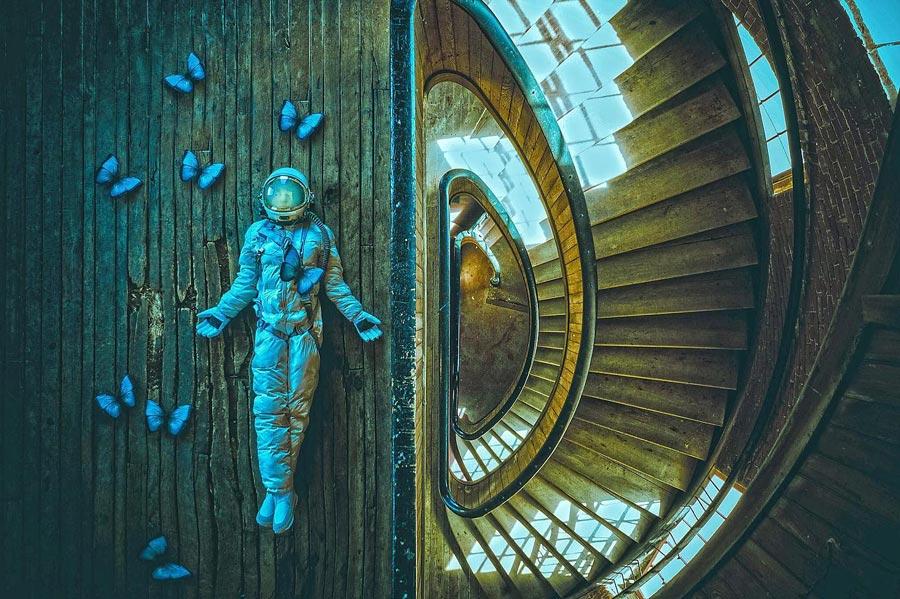 Karen Jerzyk cosmonaut conceptual photo