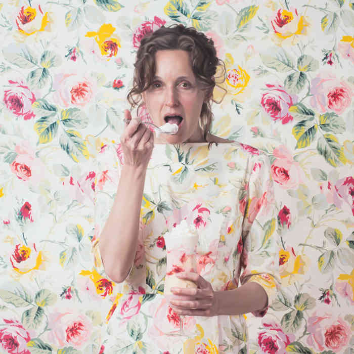 Lee Prie patterned portraits at EVOKE Contemporary