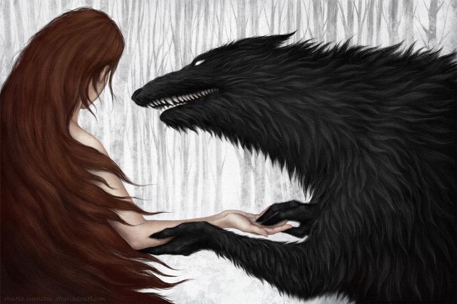 Maria Ivanova digital wolf painting
