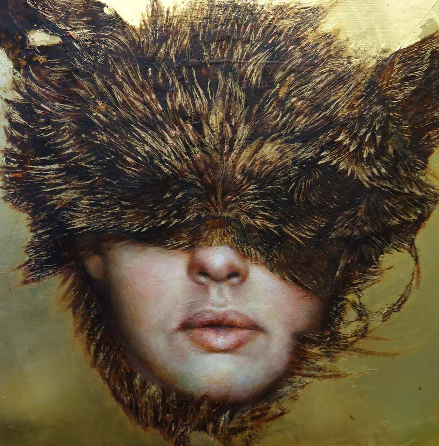 """Pam Hawkes - """"The Flux of Becoming"""" pop surreal portrait"""