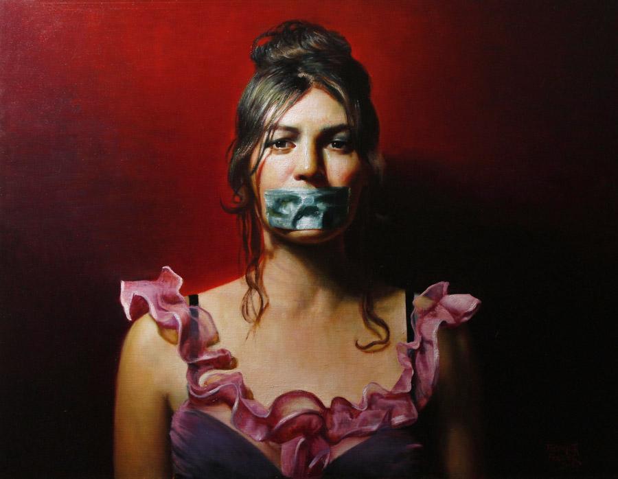 """Rose Freymuth-Frazier - """"Speak No Evil"""" realism portrait"""