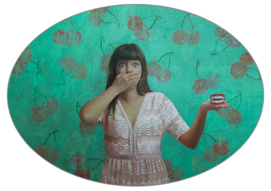 "Shana Levenson - ""Don't Speak"" figurative painting"