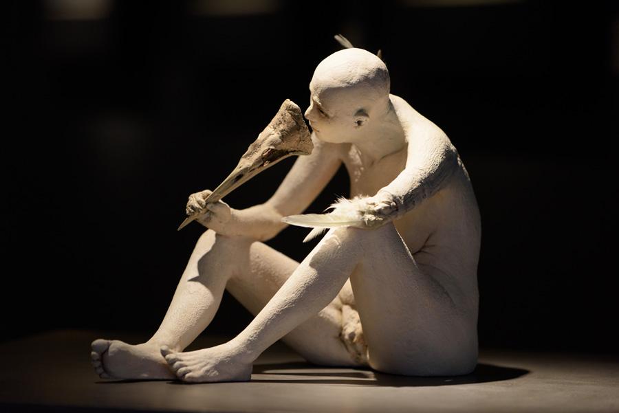 """Susannah Zucker - """"Mask"""" sculpture"""